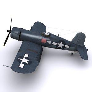 3d f4u corsair fighters model