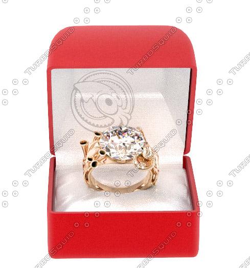 3ds max gold ring diamond