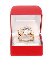 Gold Octopus Ring With Diamond Solitaire