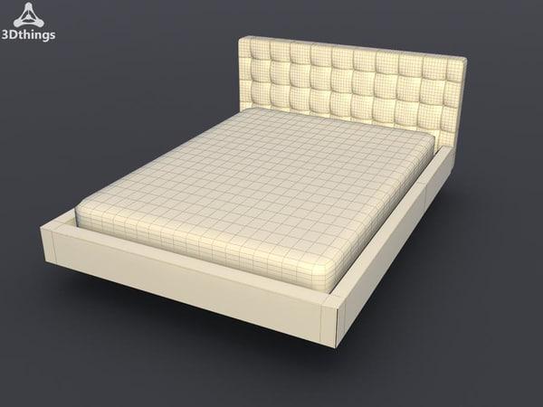 manhattan bed frame obj