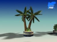 palm tree set 3d model