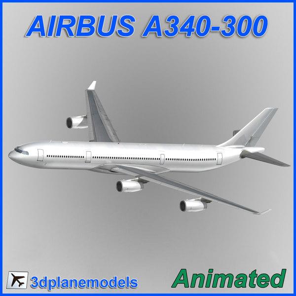 airbus a340-300 3d max