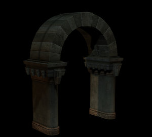 archway dungeon castles 3d model