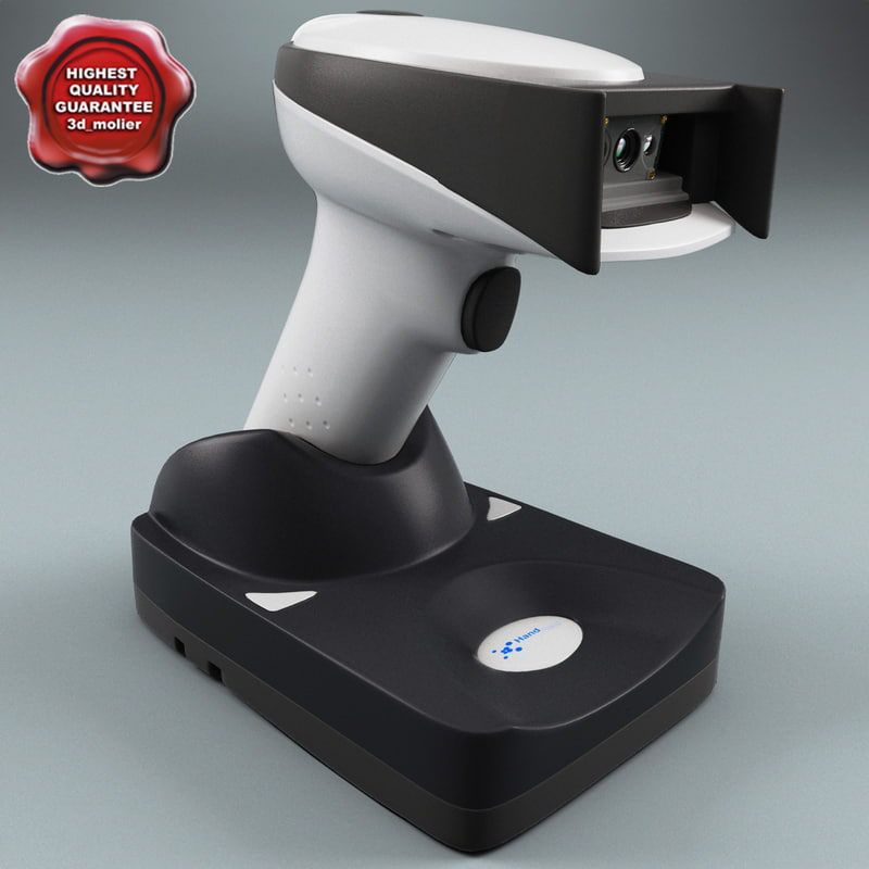 barcode scanner hhp 3d model