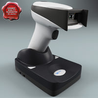 barcode scanner hhp 3d model