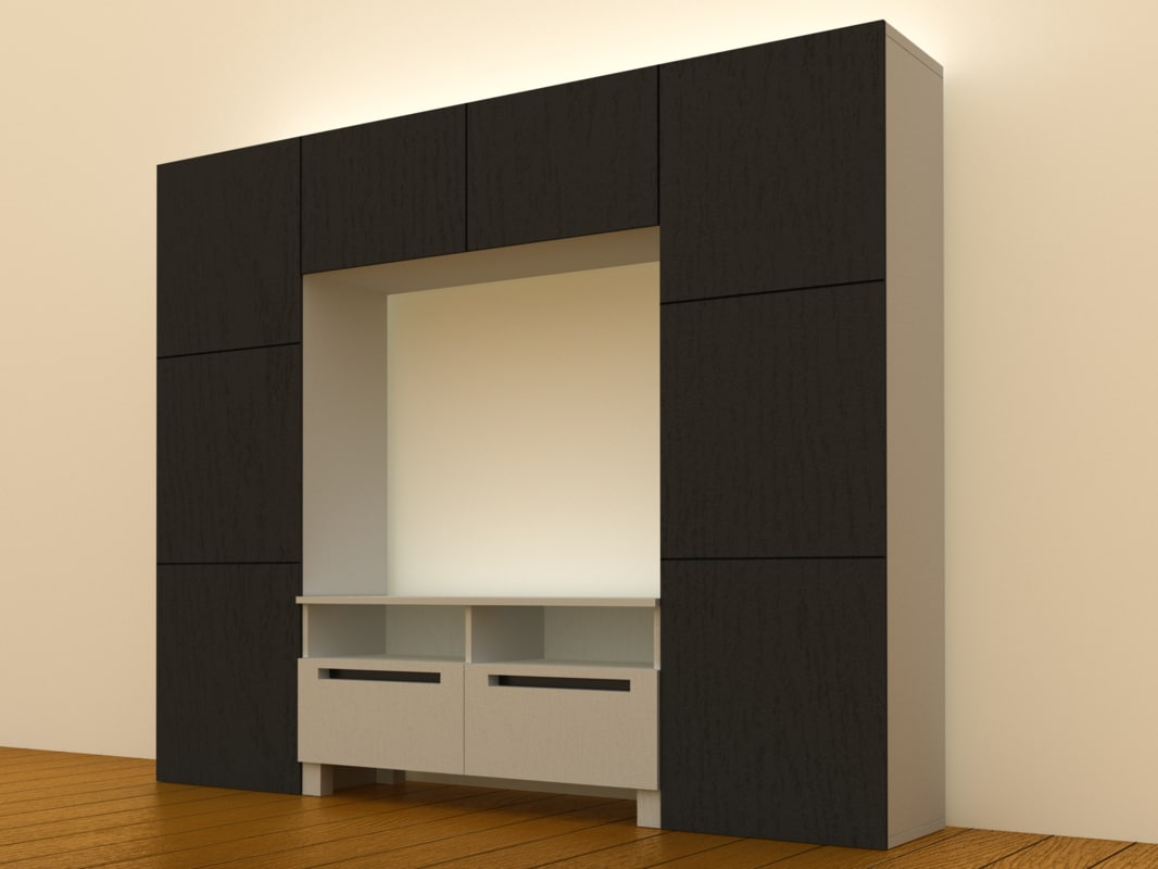 ikea besta tv storage 3d model