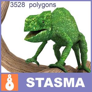 3d model chameleon chameleo hameleo