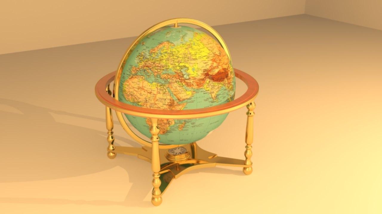 max earth stand globe rotation