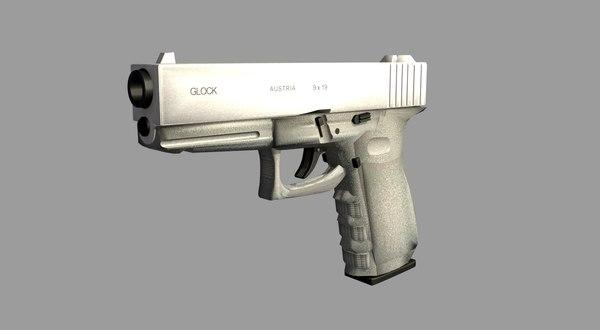 free glock 17 3d model