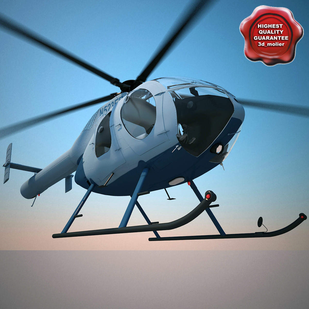 3d helicopter md 520n