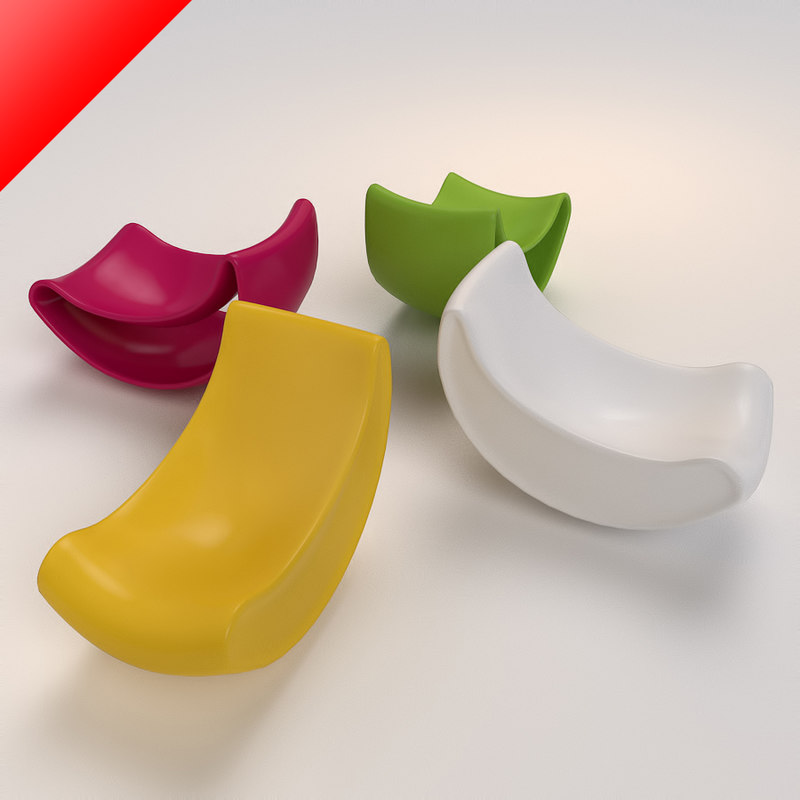 lobule chairs 3ds