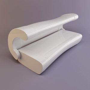 free solarium tanning bed 3d model