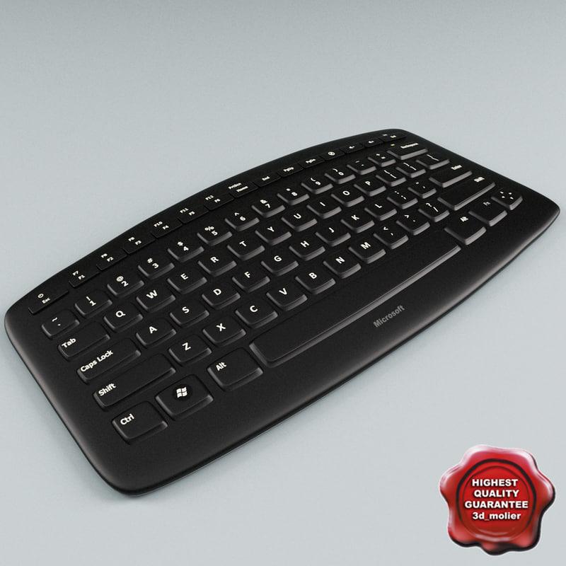 microsoft arc keyboard 3d c4d