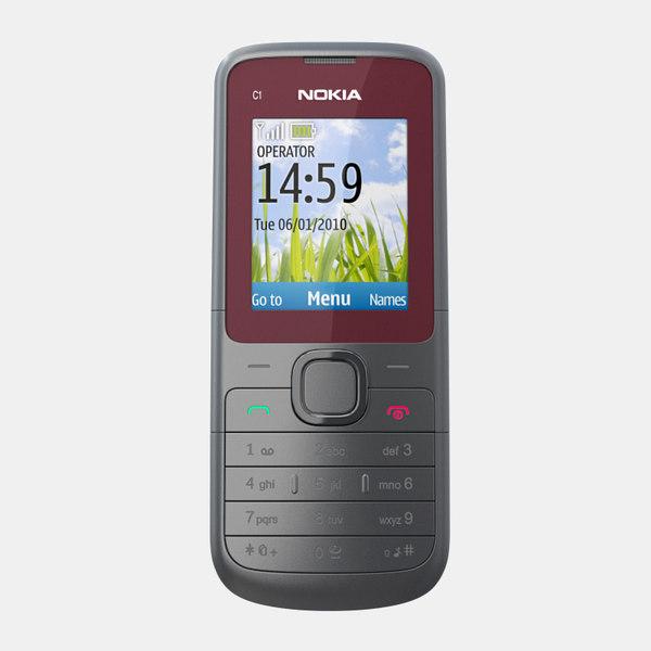 3d model nokia c1-01 mobile phone