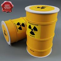 3d model nuclear barrel