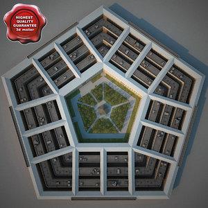 pentagon modelled 3ds