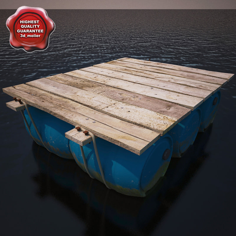 raft modelled contains 3d model