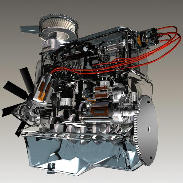 motor petrol 4 3d max