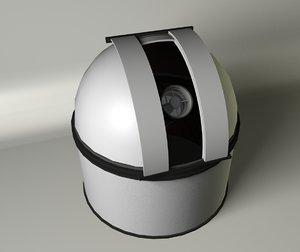 3d telescope observatory model