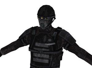 3d next-gen soldier model