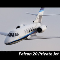 Falcon 20 private aircraft