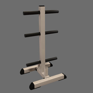 weight rack 3d max