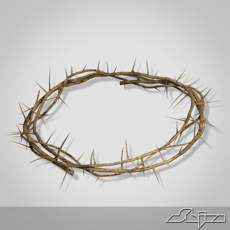 3d thorn wreath model