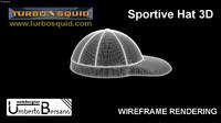 3d model sportive hat italian