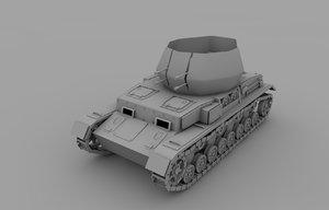 3d flakpanzer iv wirbelwind panzer tank