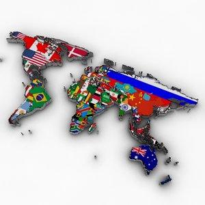 world flag 3d model