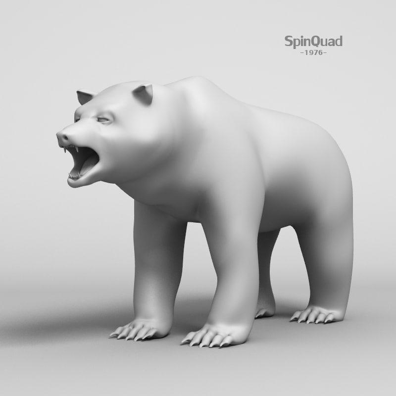 3d obj bear - base mesh