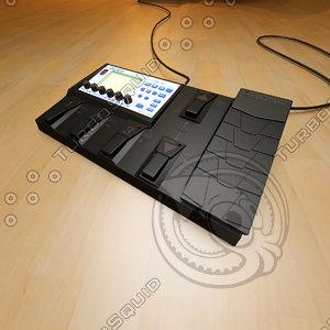 pedal electric guitar 3d model
