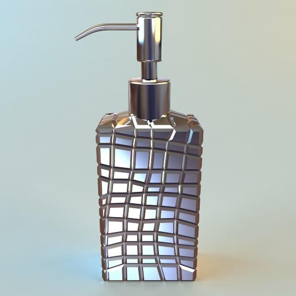 3d pump dispenser bottle