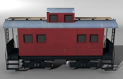 3d caboose car model