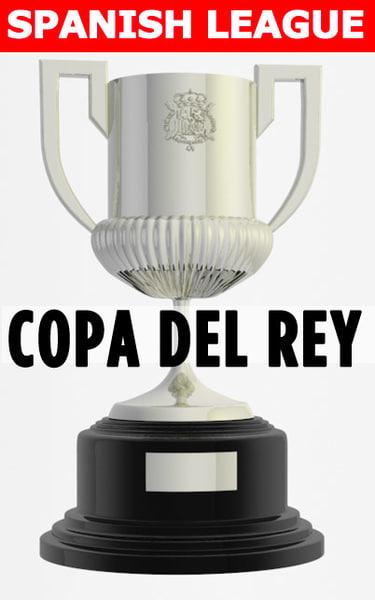 football soccer trophy copa 3d c4d