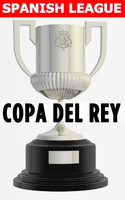 SOCCER FOOTBALL TROPHY COPA DEL REY