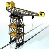 dockside crane 3d 3ds