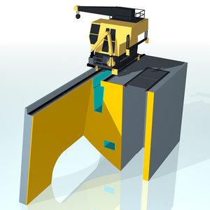 crane hydroelectricity 3d model