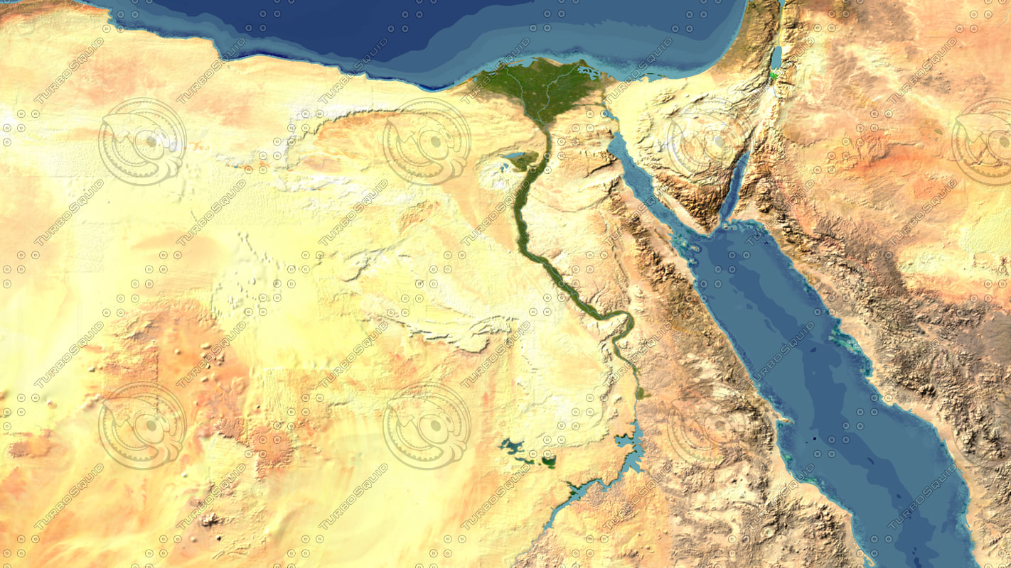 D Max - Map of egypt 3d