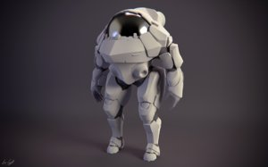 astro astronaut mech 3d model