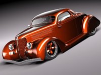 Ford 1936 coupe custom hotrod