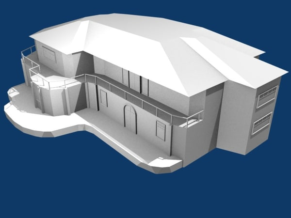 3d model house unrapped