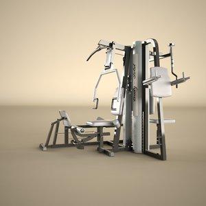 3d max multi gym machine