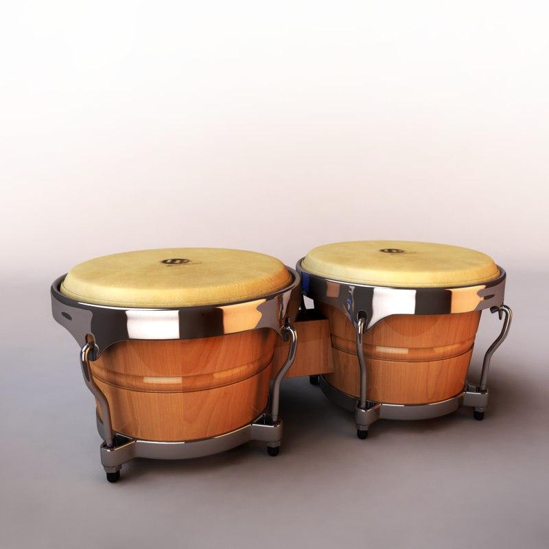 3d bongo percussion model