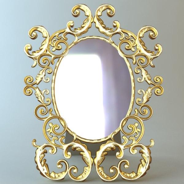 3d table mirror