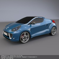 renault wind 3d model