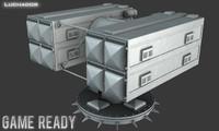 rim-7 missile launcher 3d max