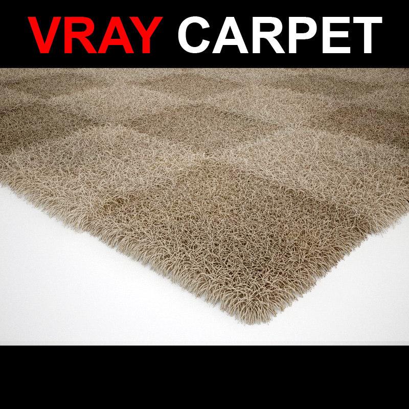 3d model of rug strands