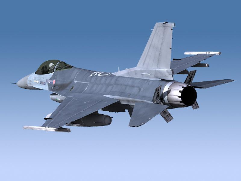 3d f-16 viper unwrapped model