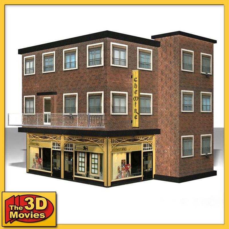 shop facade 3d max